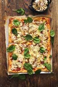 Fräsig räkpizza