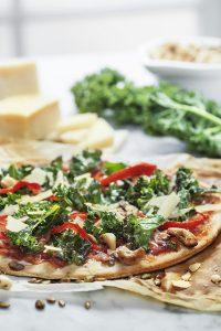 Crunchy Kale pizza