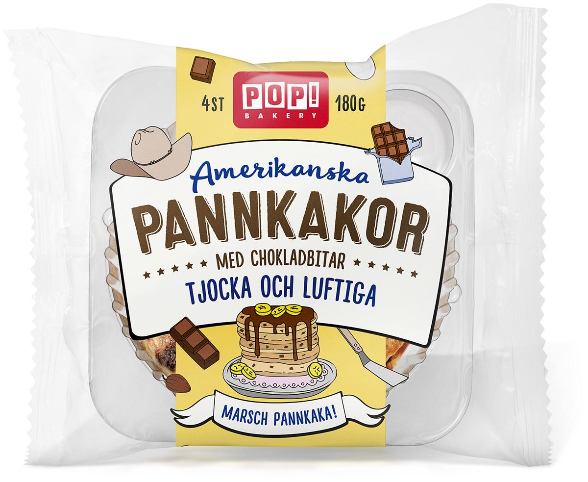Amerikanska pannkakor med chokladbitar