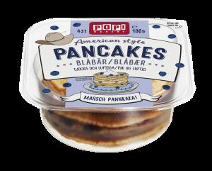 amerikanska pannkakor med blåbär